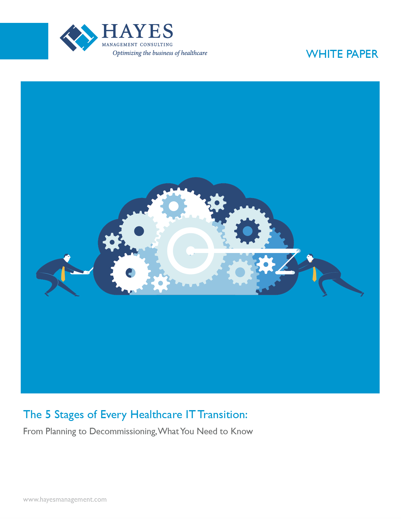 Hayes WHITE PAPER - 5 Stages of Every Healthcare IT Transition TN.png